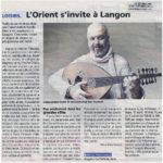 Concerts Zelliges -article le républicain 2015