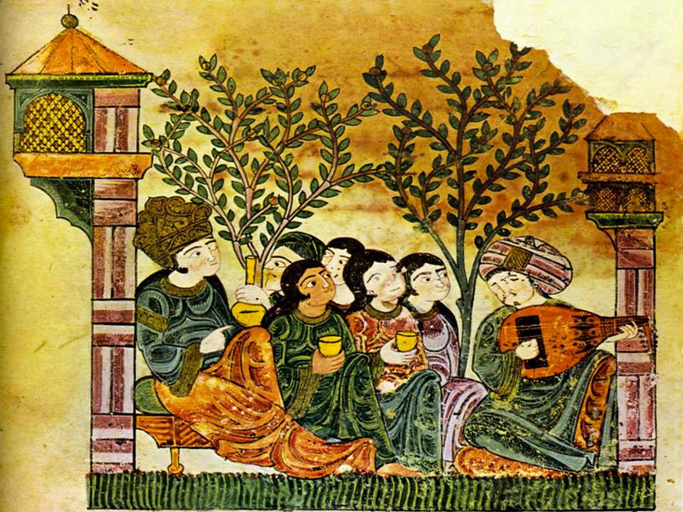 Le musicien poète andalou Zyriab_Tableau du XIII siècle